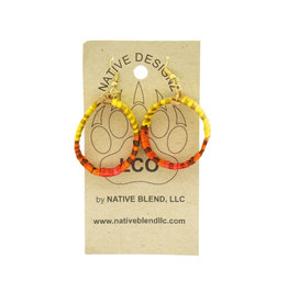 Native Designz Birch Quill Hoop Earrings