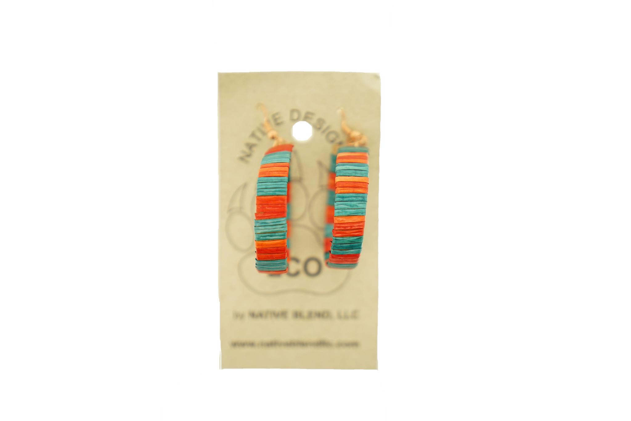 Native Designz Birch Quill Hoop Earrings