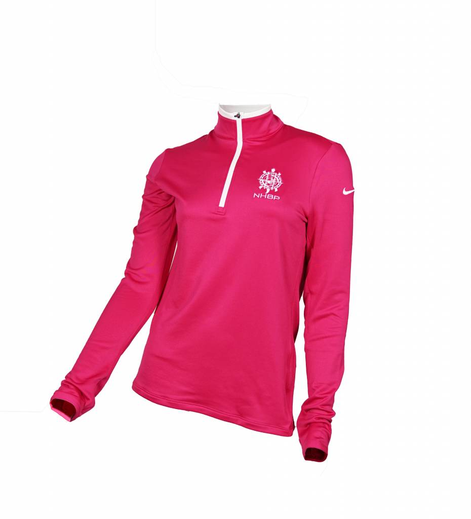 NHBP Nike Golf Ladies Dri-FIT Stretch 1/2-Zip Cover-Up