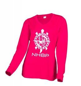 NHBP Ladies Long Sleeve V-Neck Tee