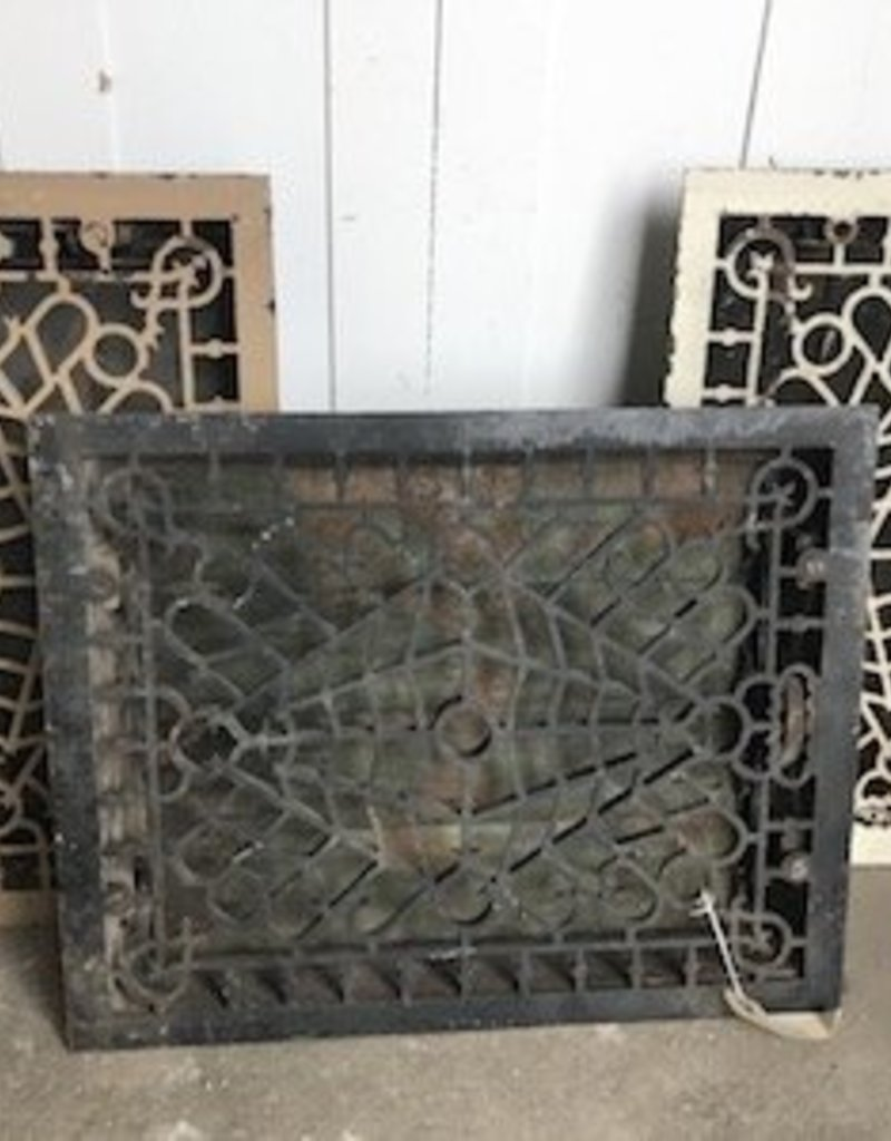 "R&F Cast Iron Register Floor Vent 16"" x 20"""