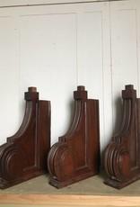 R&F Mahogany Handcarved Corbel Brackets
