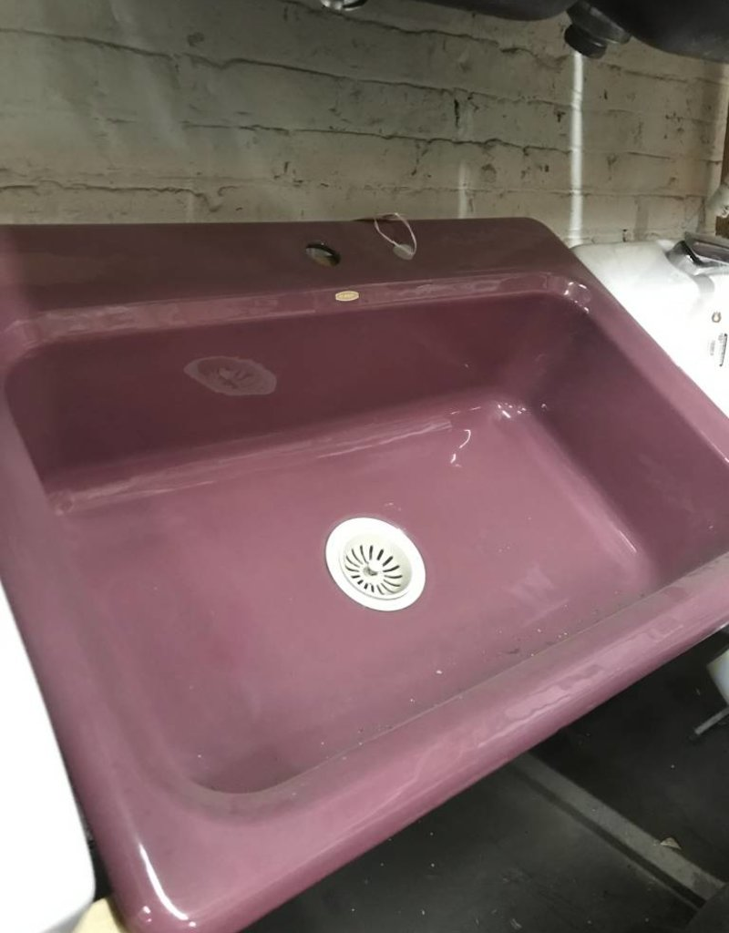 R&F Kohler Cast Iron Single Basin Sink