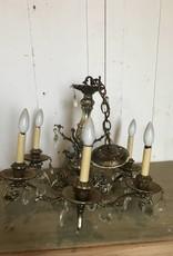 Vintage Faux Brass Chandelier