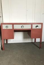 R&F Metal Mid Century Desk - Red