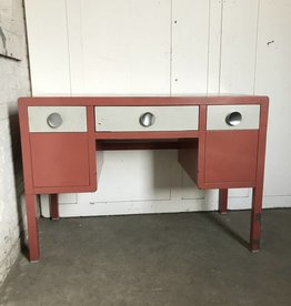 R&F Metal Mid Century Desk - Red