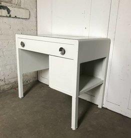 R&F Metal Mid Century Desk w/ One Shelf - White