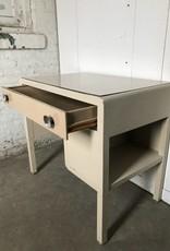 R&F Metal Mid Century Desk w/ One Shelf - Two Tone Tan