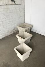 Set of 3 Square Concrete Planters
