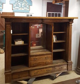 R&F Antique Craftsman Built in Buffet Cabinet