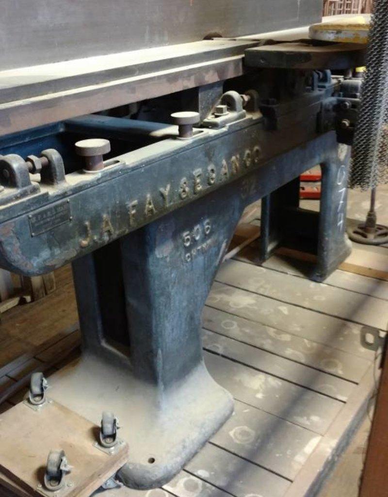 "R&F J.A. Fay & Egan Co. 12"" Jointer model 506"