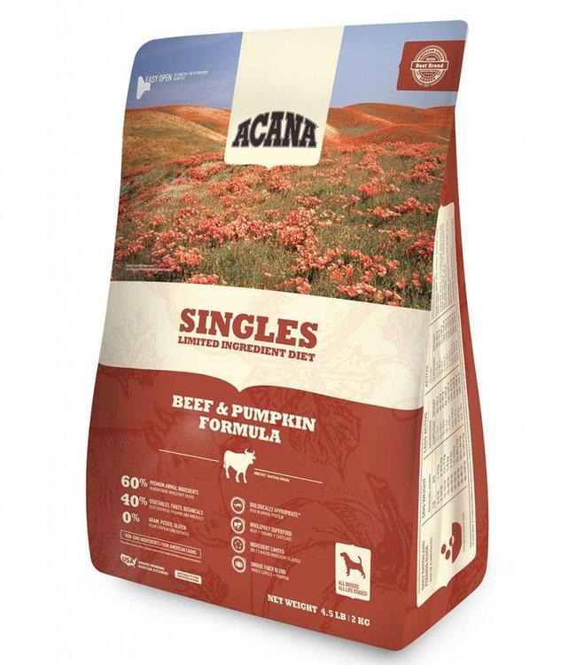 Acana Dog Singles Beef & Pumpkin Formula 4.5lbs