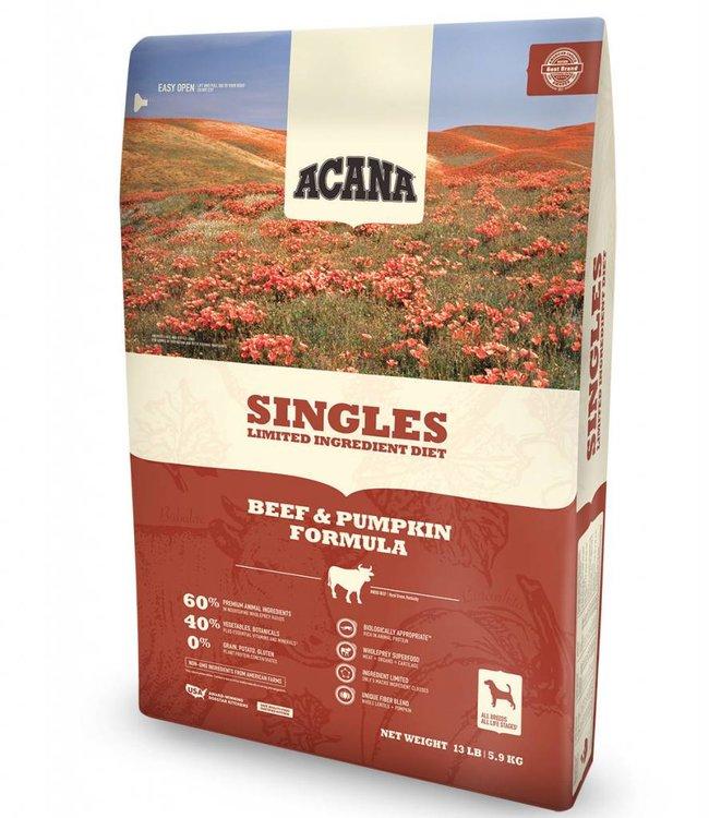 Acana Dog Singles Beef & Pumpkin Formula 13lbs