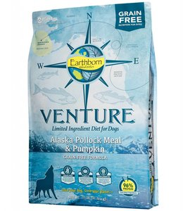 Earthborn Holistic Grain Free Venture Alaska Pollock Meal and Pumpkin 25lb