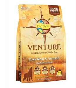 Earthborn Earthborn Holistic Grain Free Venture Duck Meal and Pumpkin 25lb