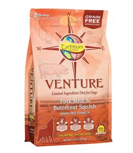 Earthborn Holistic Grain Free Venture Pork Meal and Butternut Squash 12.5lb