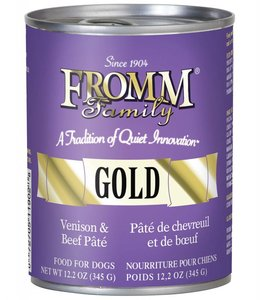 Fromm Gold Venison and Beef Pate Can 12.2oz