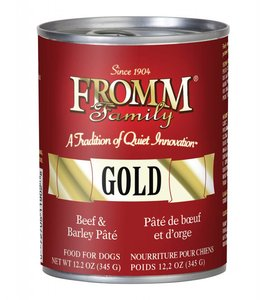 Fromm Dog Gold Beef & Barley Pate 12.2oz