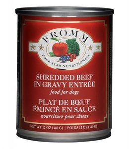 Fromm Dog Four-Star Shredded Beef In Gravy Entree 12oz