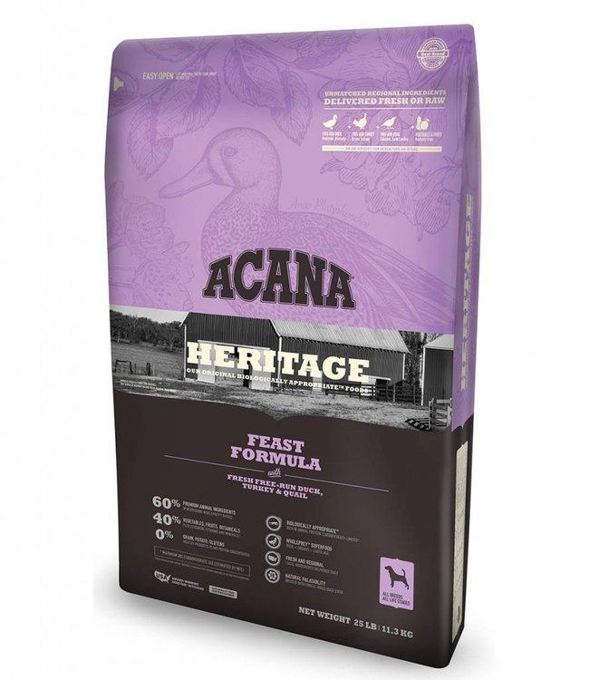 Acana Dog Heritage Feast Formula 25lbs