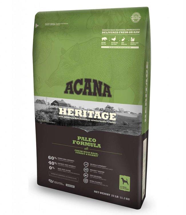 Acana Acana Dog Heritage Paleo Formula 25lbs