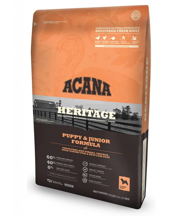 Acana Dog Heritage Puppy & Junior Formula 25lbs