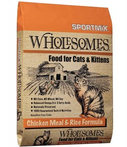 SportMix Wholesomes Chicken & Rice for Cats & Kittens 15lbs