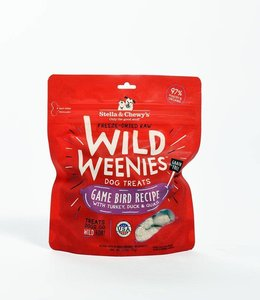 Stella & Chewy's 3.25 oz Freeze-Dried Raw Wild Weenies Grain-Free Game Bird Dog Treats