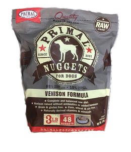 Primal Frozen Raw K9 Venison Nuggets 3lbs