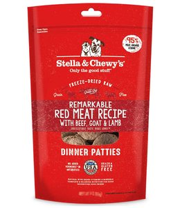 Stella & Chewy's 14oz Freeze-Dried Raw Remarkable Red Meat Recipe Dinner Patties