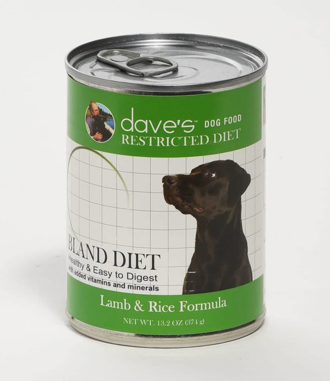 Dave's Pet Food Bland Diet Lamb & Rice13oz