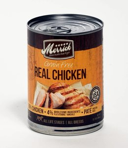 Merrick Real 96% Chicken Dog Food Can 13oz