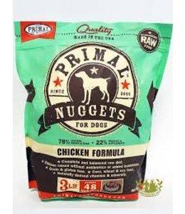 Primal Frozen Raw K9 Chicken Nuggets 3lbs