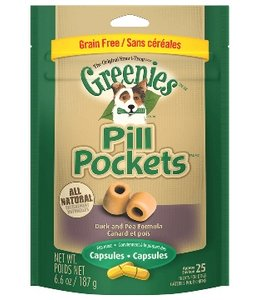 Greenies Pill Pockets Duck & Pea 25ct Capsules