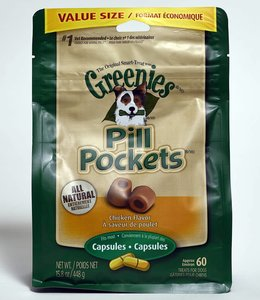 Greenies Pill Pocket Chicken 60ct Capsules