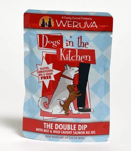 Weruva The Double Dip with Beef & Wild Caught Salmon Au Jus 2.8oz Pouch