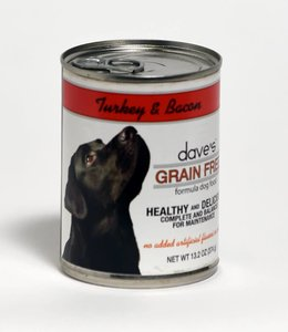 Dave's Pet Food Turkey & Bacon Grain Free 13.2oz