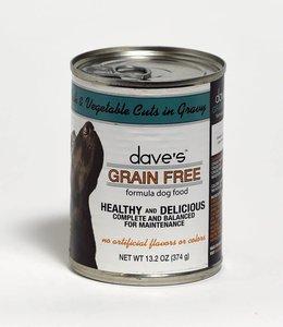 Dave's Pet Food Ocean Fish & Vegetable Cuts in Gravy 13.2oz