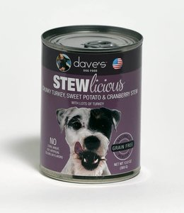 Dave's Pet Food Stewlicious Chunky Turkey, Sweet Potato & Cranberry Stew 13oz