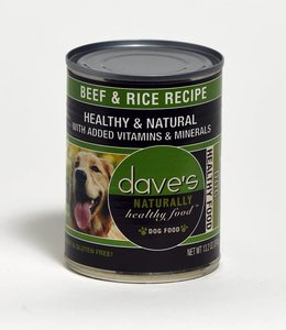 Dave's Pet Food Healthy & Natural Beef & Rice 13.2oz