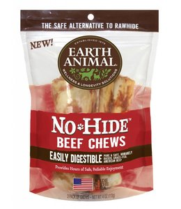 "Earth Animal No-Hide 4"" Beef Dog Chews 2 Pack"