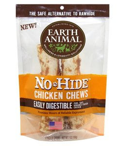 "Earth Animal No-Hide 7"" Chicken Chews 2 Pack"