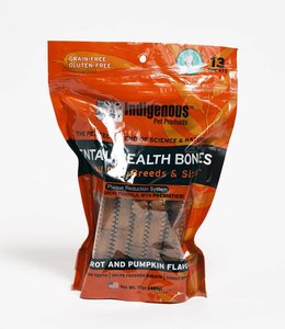 Indigenous Pet Products Dental Health Bones Carrot & Pumpkin 17oz
