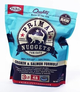 Primal Feline Chicken & Salmon Nuggets 3lbs