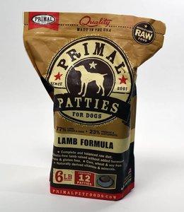 Primal Dog Frozen Raw Lamb Patties 6lbs