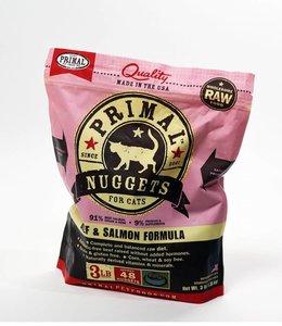 Primal Frozen Raw Feline Beef & Salmon 3lbs