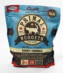 Primal Frozen Raw Feline Rabbit Nuggets 3lbs