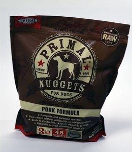 Primal Frozen Raw Dog Pork Nuggets 3lbs