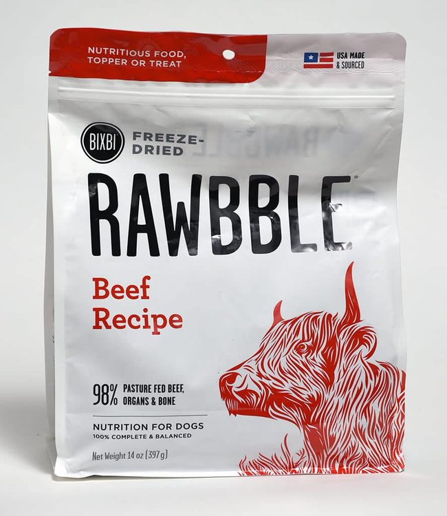 Bixbi Freeze-Dried Rawbble Beef Recipe 30oz