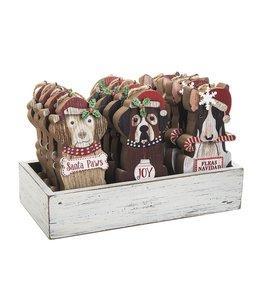 GANZ Wooden Santa Paws Ornament